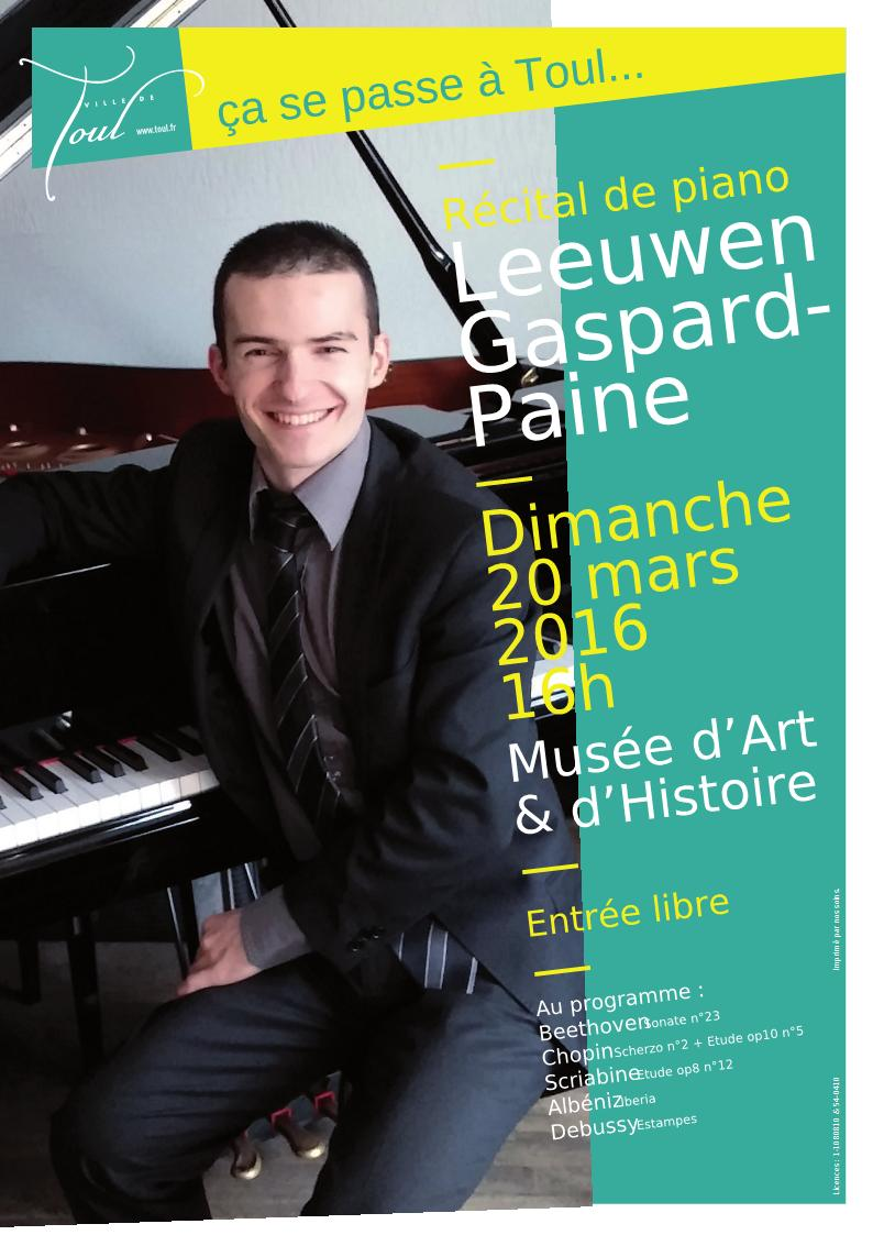 Leeuwen Gaspard - Affiche concert Toul Mars 2016 (A3)